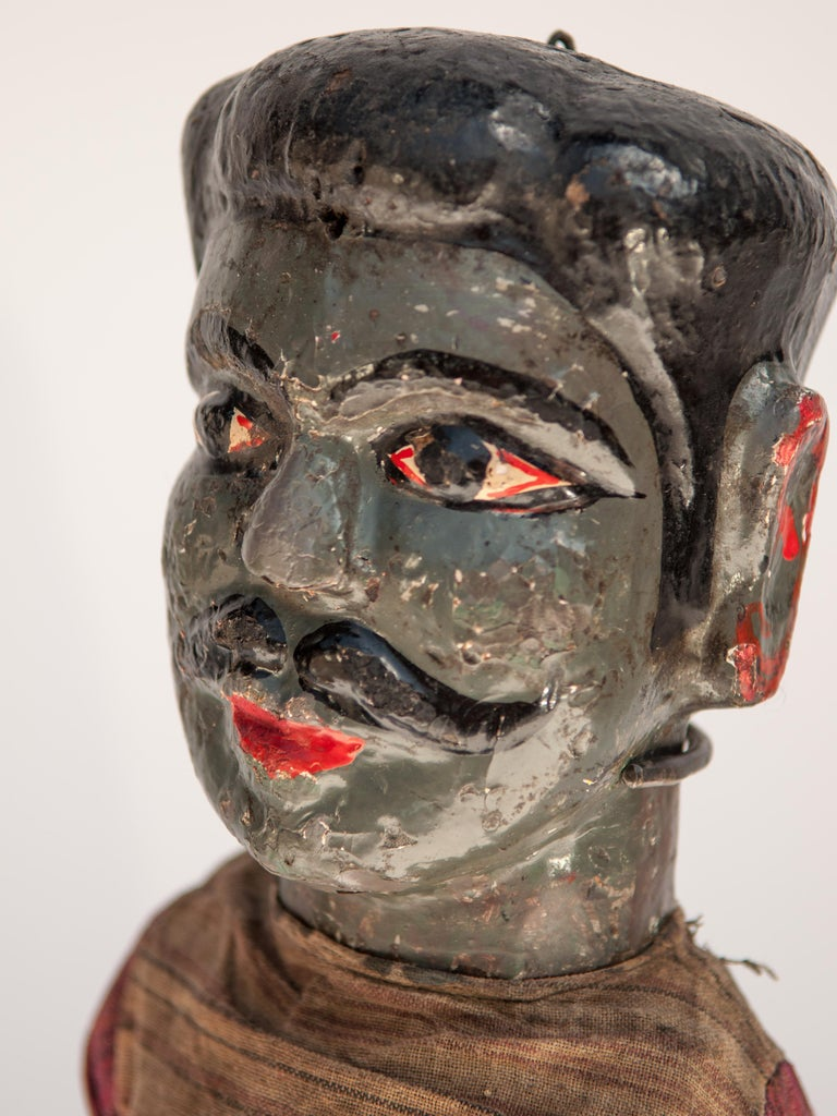 Group of Five Vintage Puppets, Newar People of Nepal, Early 20th Century For Sale 9