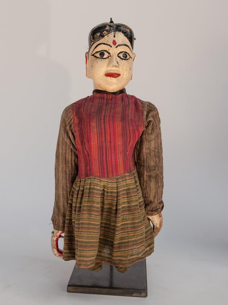 Group of Five Vintage Puppets, Newar People of Nepal, Early 20th Century For Sale 10