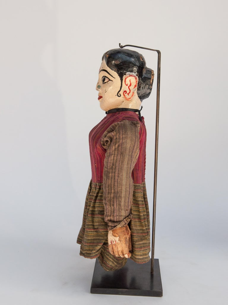 Group of Five Vintage Puppets, Newar People of Nepal, Early 20th Century For Sale 11