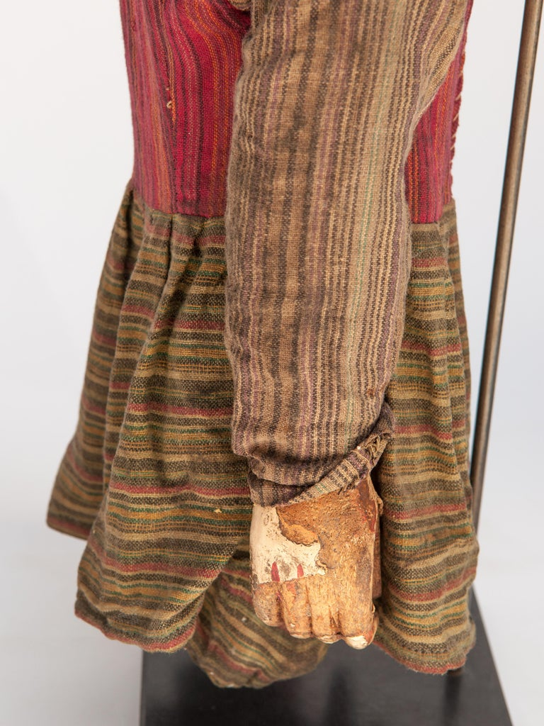 Group of Five Vintage Puppets, Newar People of Nepal, Early 20th Century For Sale 12