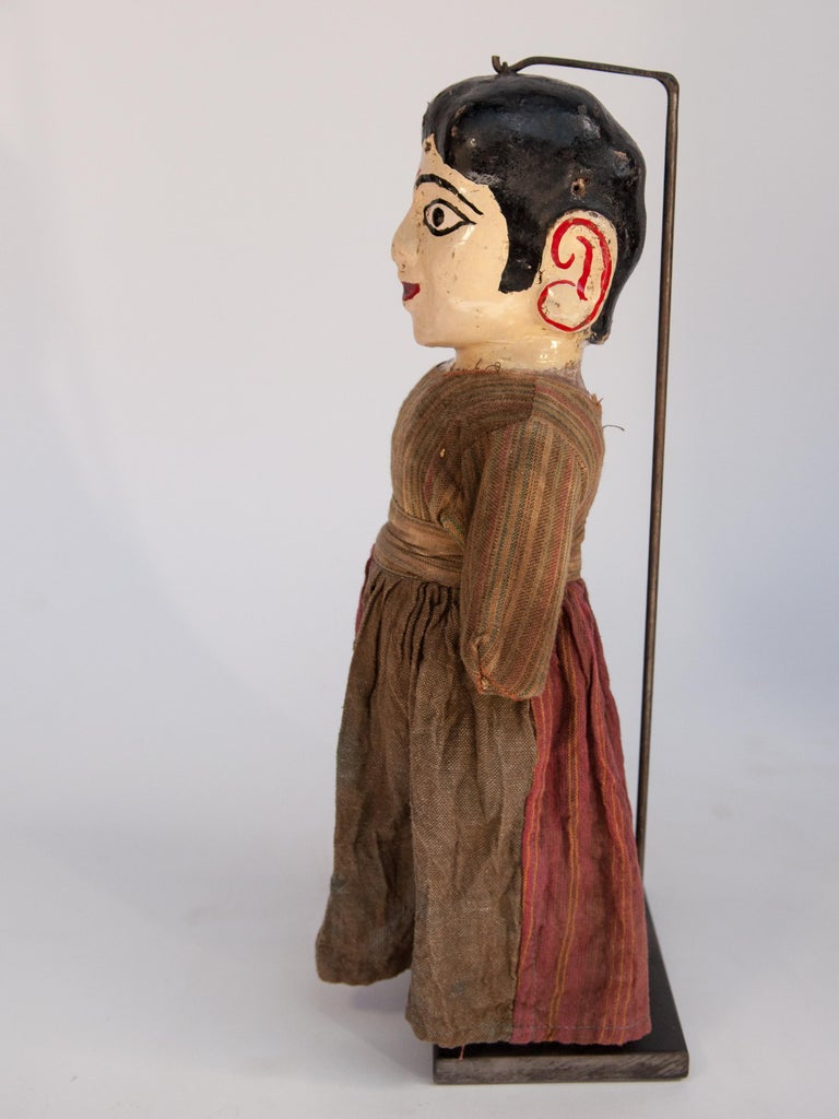 Folk Art Group of Five Vintage Puppets, Newar People of Nepal, Early 20th Century For Sale