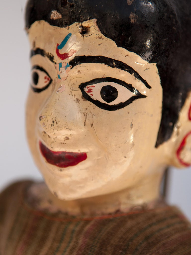 Nepalese Group of Five Vintage Puppets, Newar People of Nepal, Early 20th Century For Sale