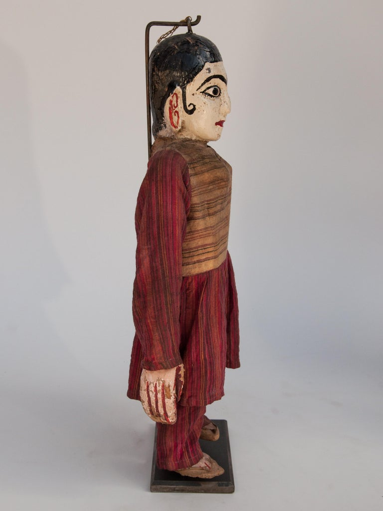 Textile Group of Five Vintage Puppets, Newar People of Nepal, Early 20th Century For Sale