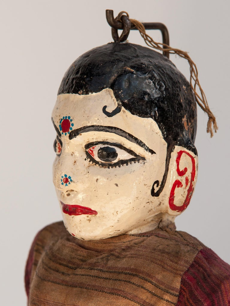 Group of Five Vintage Puppets, Newar People of Nepal, Early 20th Century For Sale 1