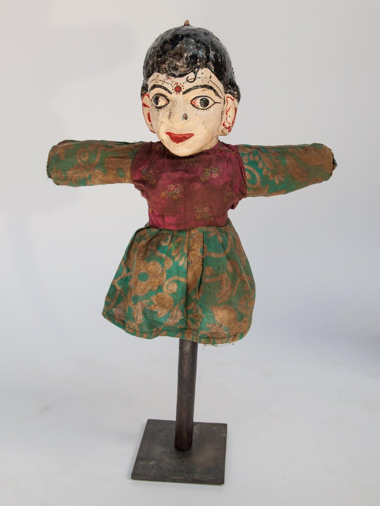 Group of Five Vintage Puppets, Newar People of Nepal, Early 20th Century For Sale 2