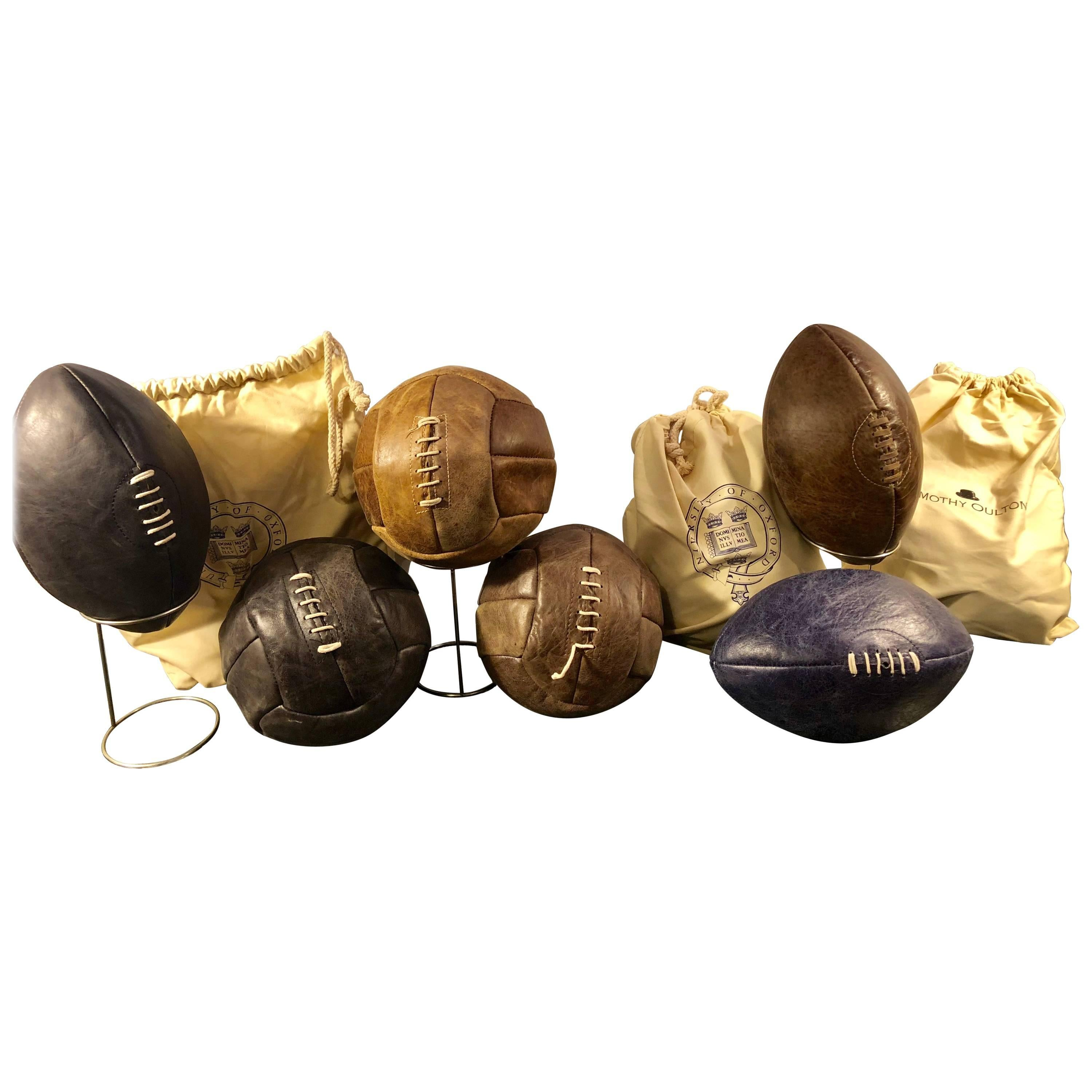 Footballs and Soccer Balls by Timothy Oulton, Selling Individually Seven Avail