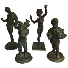 Group of Four Grand Tour Bronzes from Pompeii