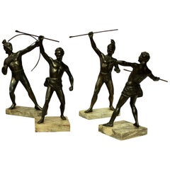 Group of Four Greek and Trojan Warriors