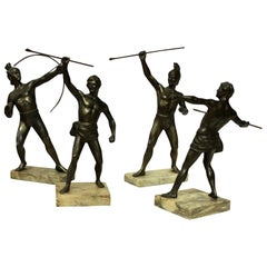 Group of Four Greek & Trojan Warriors