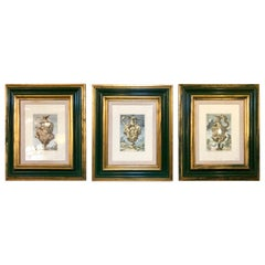 Group of Framed Italian Prints of Urns, the Set in Fine Frames
