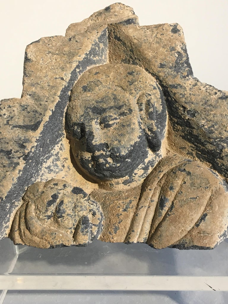 Pakistani Group of Gandharan Carved Schist Sculptural Fragments, 3rd-5th Century For Sale