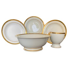 Group of Gilt White Paris Porcelain