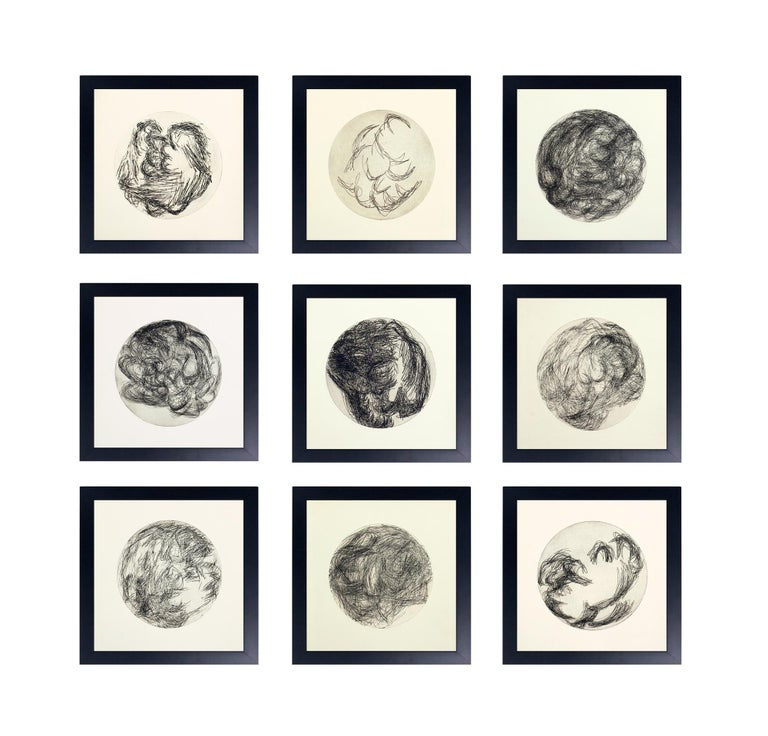 Group of Modernist Black and White Lithographs by Ana Rosa de Ycaza For Sale