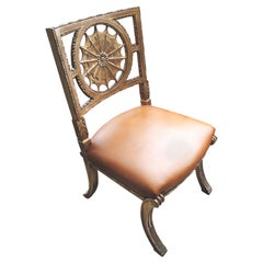 Gruppe von 6 Stühlen 19. Jahrhundert Römische Schule