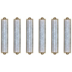 Group of Six Lumiere Rock Crystal Sconces by Phoenix
