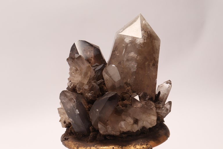 Italian Group of Smoke Crystals, Italy, 1880 For Sale