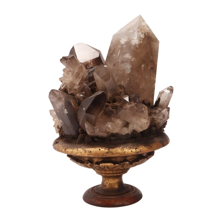 Group of Smoke Crystals, Italy, 1880 For Sale