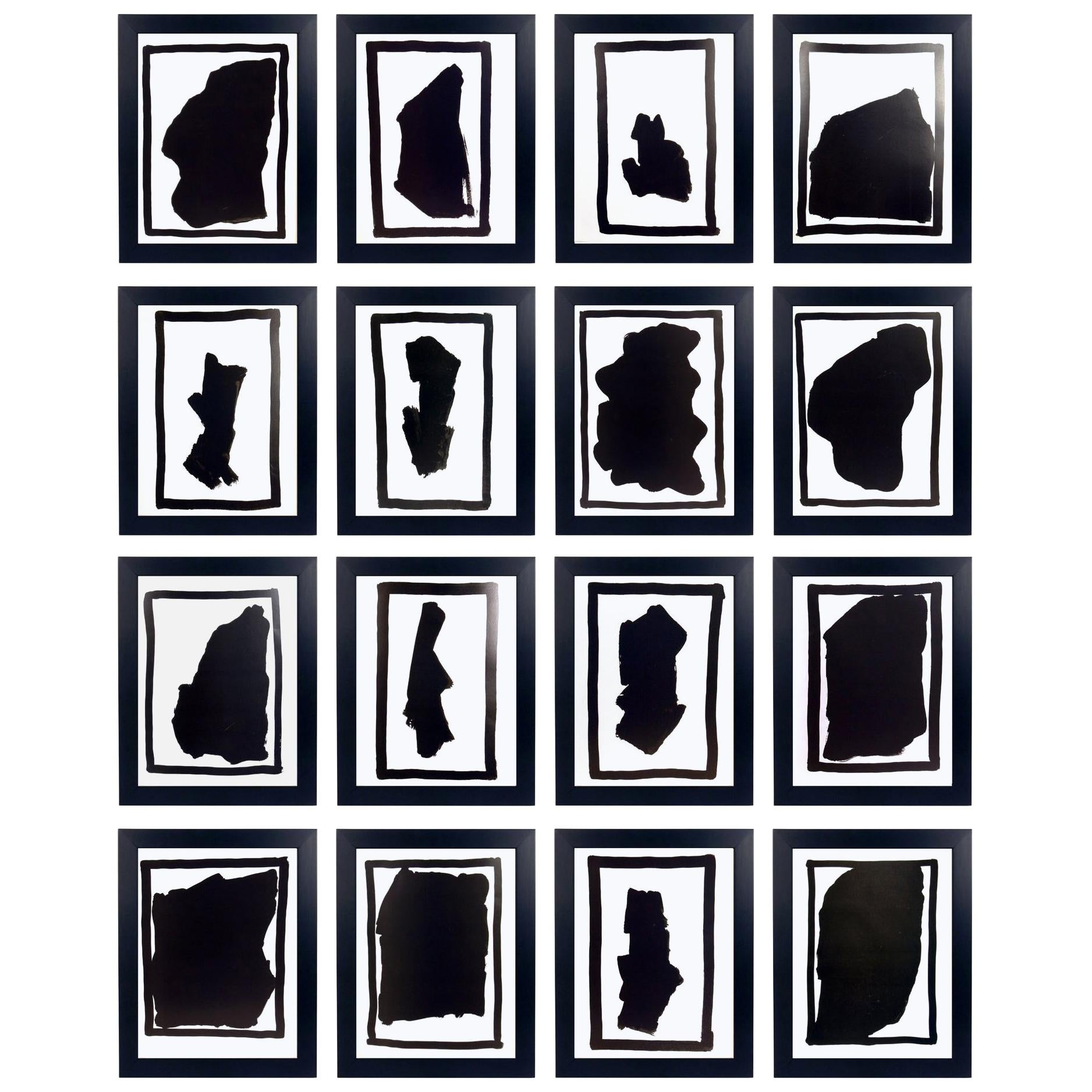Group of Sol LeWitt Abstract Black and White Prints