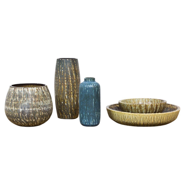 Group of Swedish Ceramics by Gunnar Nylund for Rörtsrand