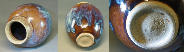 Group of Three 20th Century Art Pottery Pieces For Sale 4