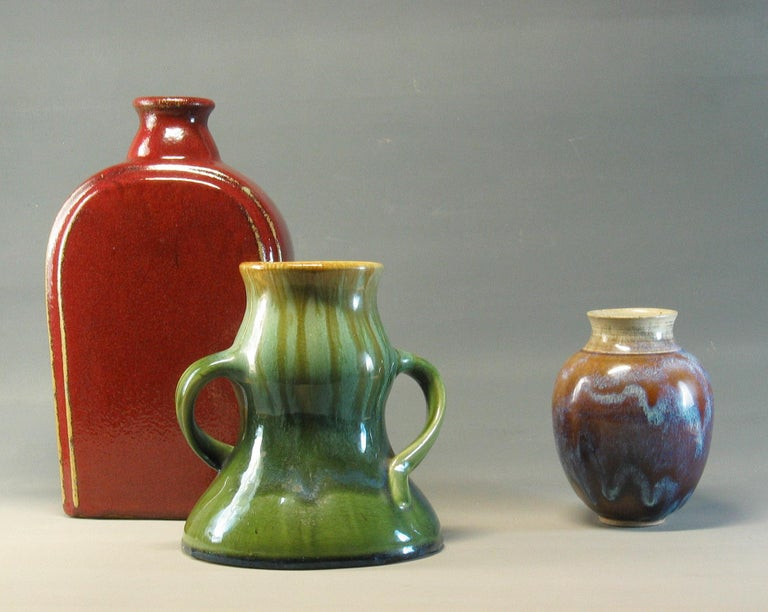 Group of Three 20th Century Art Pottery Pieces For Sale 5