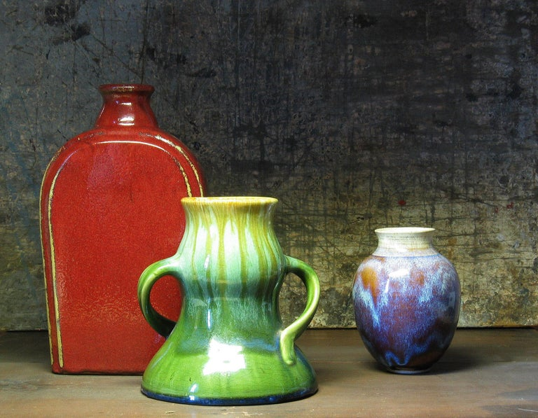 Mid-Century Modern Group of Three 20th Century Art Pottery Pieces For Sale