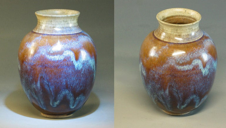 Group of Three 20th Century Art Pottery Pieces For Sale 3