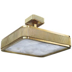Group of Three BSO Rock Crystal Semi Flush Mount by Phoenix