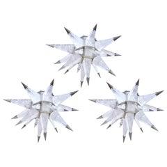 Group of Three Star Flush Mounts by Phoenix