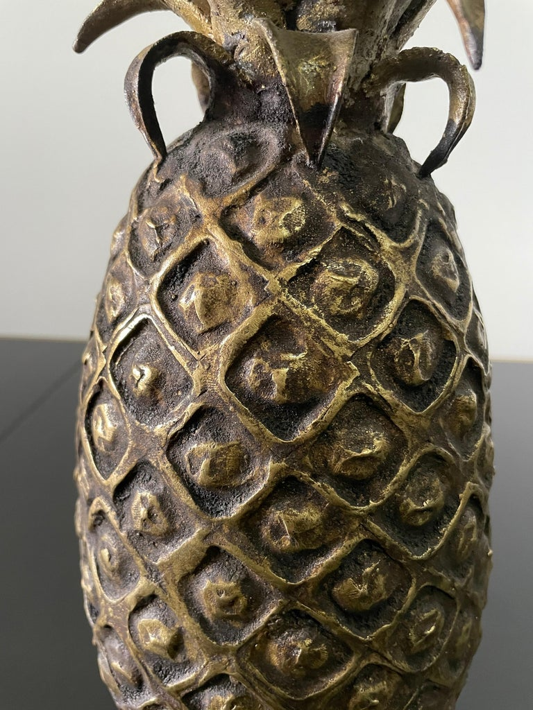 Grouping of 4 Vintage Lost Wax Bronze Pineapple Sculptures from Ivory Coast For Sale 4