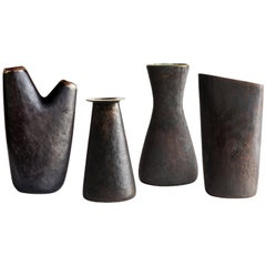 Grouping of Four Carl Auböck Brass Vases