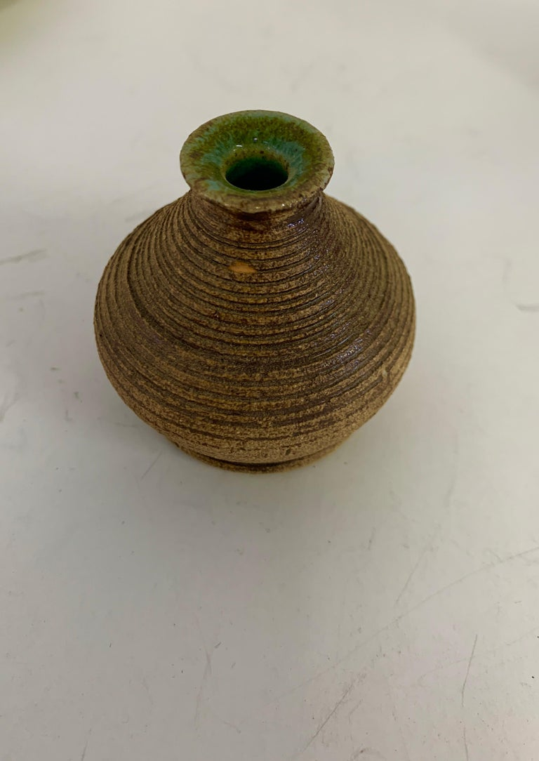 Contemporary Grouping of Miniature Art Pottery Vessels For Sale