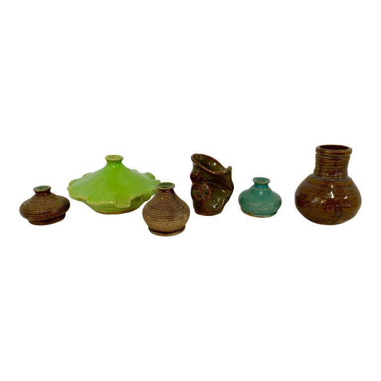 Grouping of Miniature Art Pottery Vessels For Sale