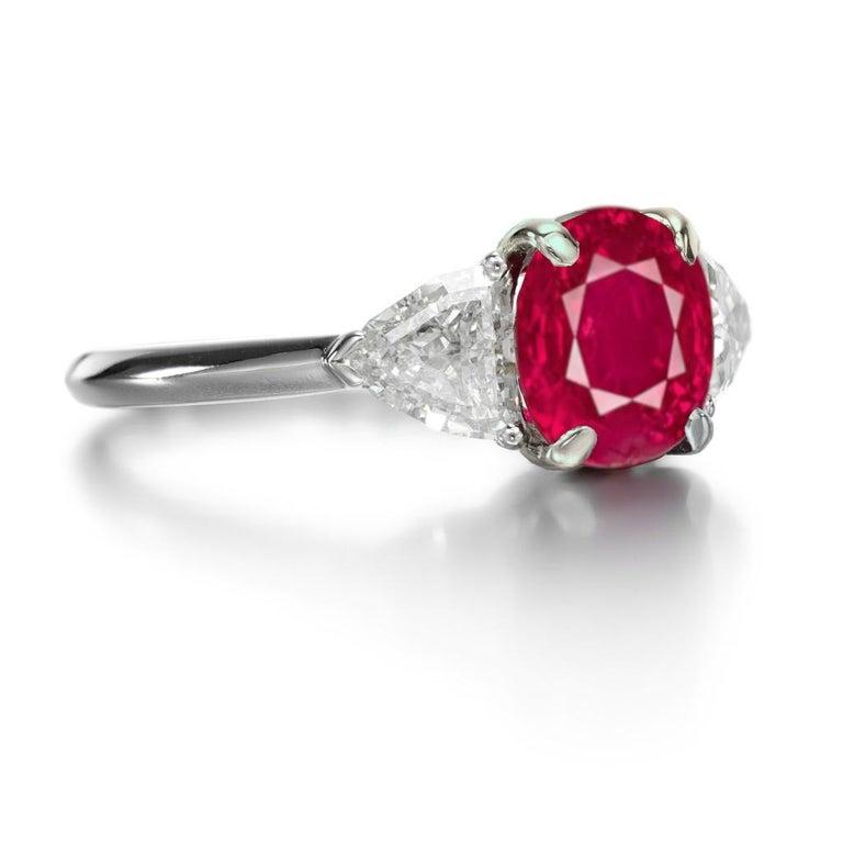 GRS 4.98 Carat BURMA Myanmar Ruby Diamond Ring