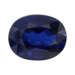 GRS Certified 2.88 Carat Royal Blue Sapphire