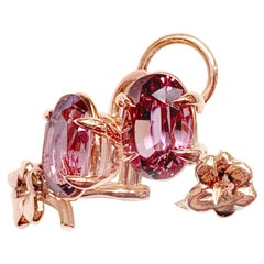 GRS Certified 8.26 Carat Spinels Blossom Earrings in 18 Karat Rose Gold