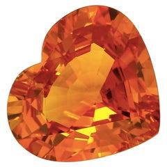 GRS Certified 8.45 Carat Vivid Orangy-Yellow Sapphire