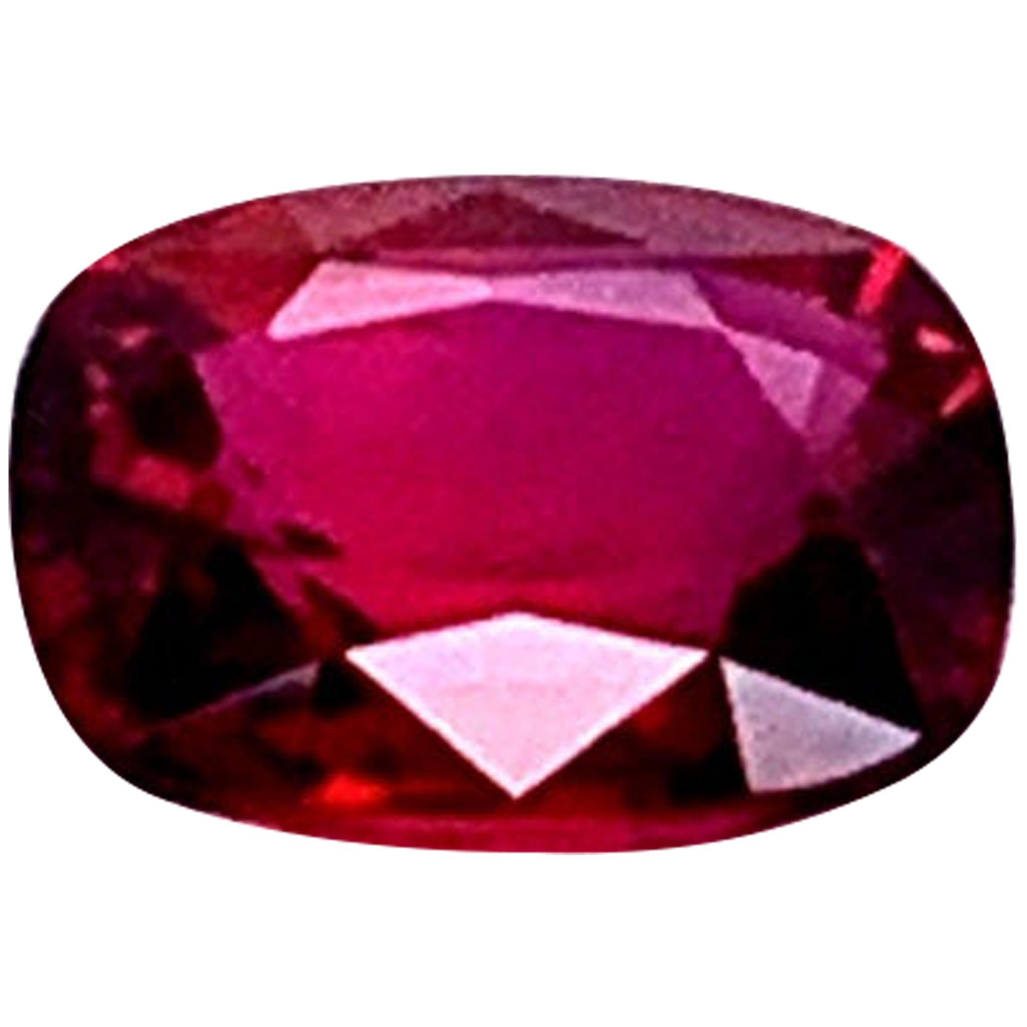 GRS Certified Natural Ruby 2.26 Carat No Heat Vivid Red