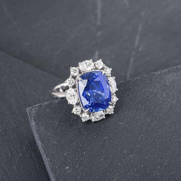 GRS Certified Natural SriLankan Cornflower Blue Sapphire Ring For Sale 1
