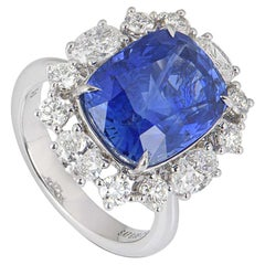 GRS Certified Natural SriLankan Cornflower Blue Sapphire Ring