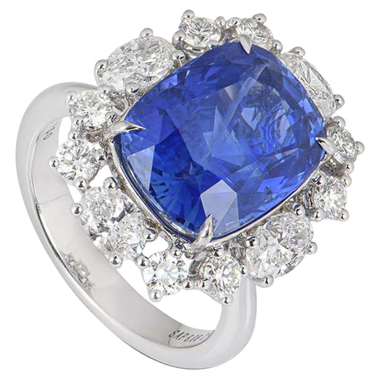GRS Certified Natural SriLankan Cornflower Blue Sapphire Ring For Sale