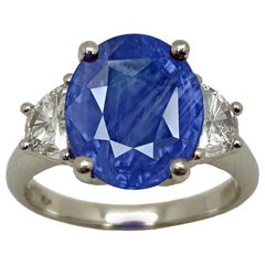 GRS GIA Certified 13 Carat Natural No Heat Sri Lanka Blue Sapphire