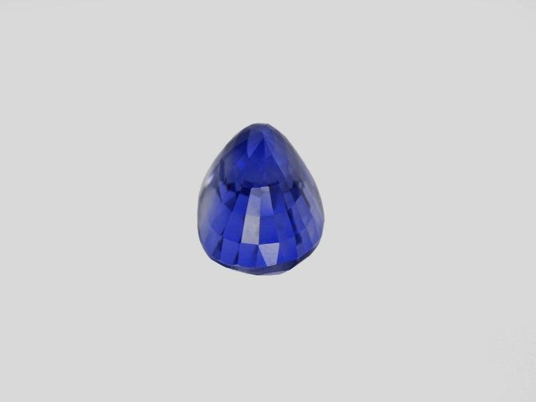 Oval Cut GRS Switzerland 5 Carat Sri-Lanka Ceylon Oval Blue Sapphire Diamond Ring For Sale