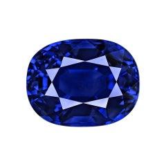 GRS Switzerland 7.29 Carat Blue Sapphire