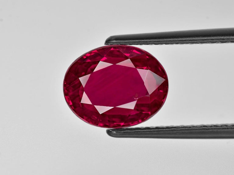 Modern GRS Switzerland Certified 6 Carat Vivid Red Peagon's Blood Red Ruby Diamond Ring For Sale