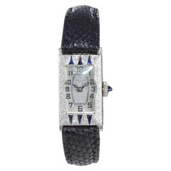 Gruen 18 Karat White Gold Art Deco Ladies Dress Watch circa