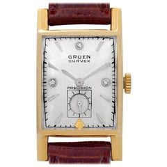 Gruen Curvex 370-615, Case, Certified and Warranty