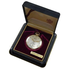 Gruen Watch Company Open Faced Pocket Watch circa 1930s with Original Box
