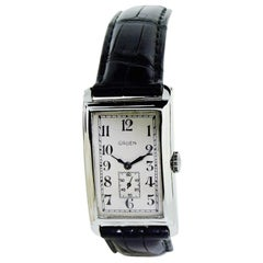 Gruen White Gold Art Deco Curvex Manual Watch