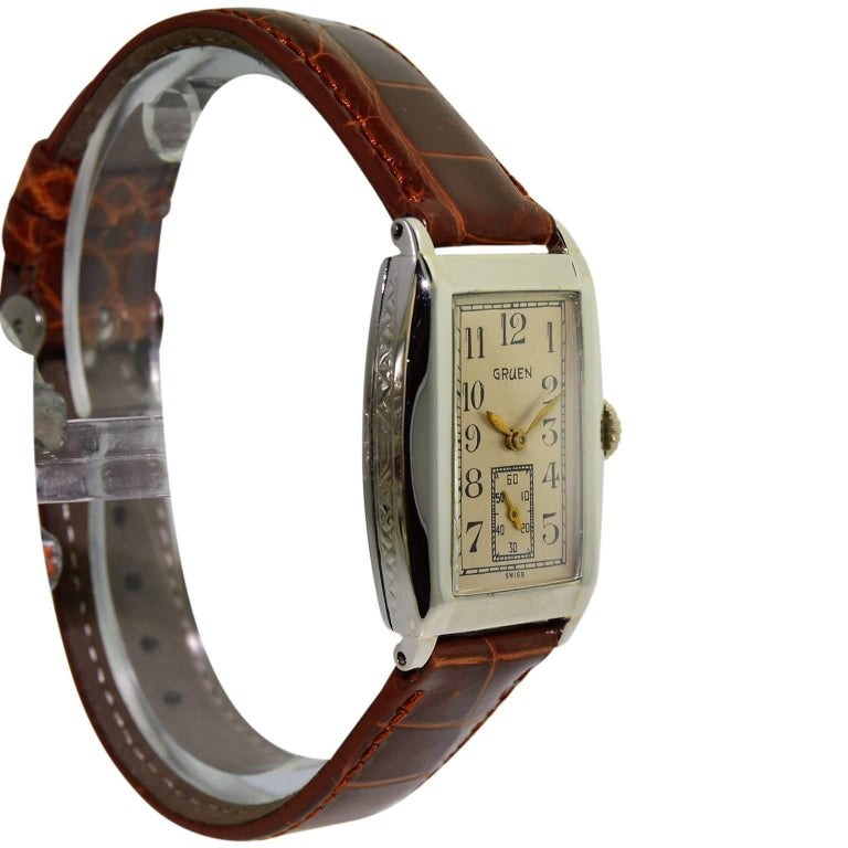 The Deco Stylist Tagged 1960 S Fashion The Deco Haus: Gruen White Gold Filled Art Deco Manual Wind Wristwatch